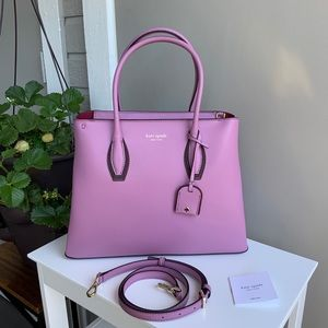 Eva medium top zip satchel